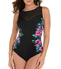 Miraclesuit Mesh Printed One Piece Suit