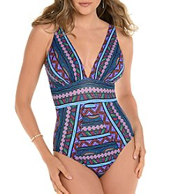 Miraclesuit Geo Pattern One Piece Suit