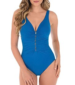 Miraclesuit Metallic Front One Piece