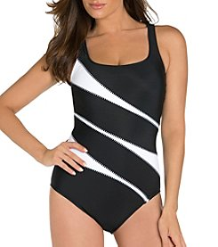 Miraclesuit White Waves One Piece Suit
