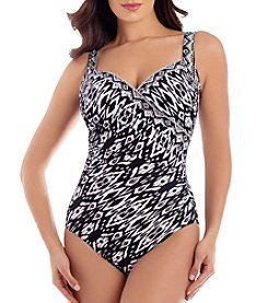 Miraclesuit Printed Wrap One Piece Suit