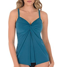 Miraclesuit Knot Front Tankini Top