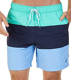 Nautica Men's Quick Dry Tri Block Swim Trunks