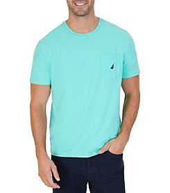 Nautica Men's Crew Neck Pocket Short Sleeve Tee