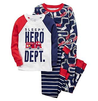 565241a8e3241 Carter's Boys' 4-Pc. Hero Snug Fit Cotton Pajamas | Carson's