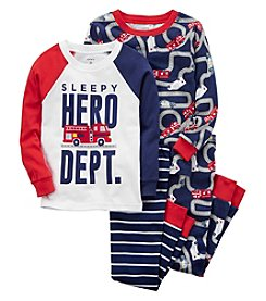 Carter's Boys' 4-Pc. Hero Snug Fit Cotton Pajamas