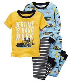 Carter's Boys' 4-Pc. Construction Snug Fit Cotton Pajamas