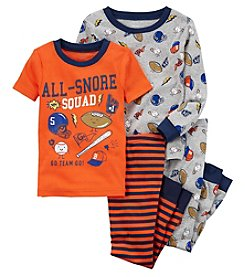 Carter's Boys' 4-Pc. Sports Snug Fit Cotton Pajamas