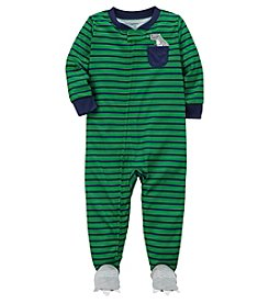 Carter's Baby Boys' 12M-3T One Piece Striped Dino Pocket Snug Fit Cotton PJS