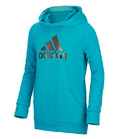 adidas Girls' 3T-6X Performance Hooded Sweatshirt