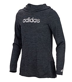 adidas Girls' 5-6X Space Dyed Melange Hoodie