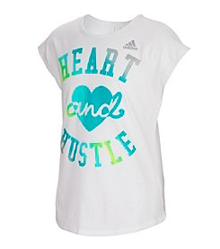 adidas Girls' 4-6X Short Sleeve Heart And Hustle Tee