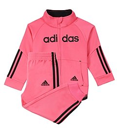 adidas Girls' 4-6X Linear Tricot Jacket And Pants Set