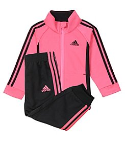 adidas Girls' 4-6X Tricot Jacket and Sweatpants Set