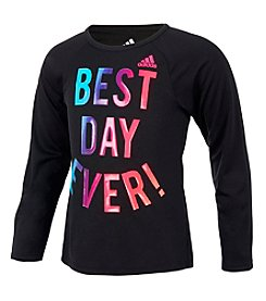 adidas Girls' 2T-16 Long Sleeve Extraordinary Tee