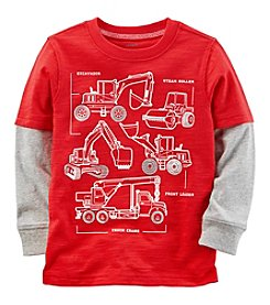 Carter's Boys' 2T-8 Long Sleeve Construction Layered Look Tee