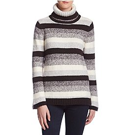 Kensie Striped Turtleneck Sweater