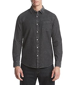 Retrofit Men's Long Sleeve Button Down Denim Shirt