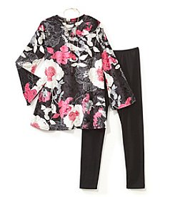 A. Byer Girls' Girls 7-16 Floral Tunic And Leggings Set