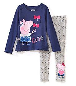 Peppa Pig Girls' 2T-6X Cutie Top And Leggings Set