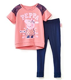 Peppa Pig Girls' 2T-6X Peppa Pig Sweatshirt And Leggings Set