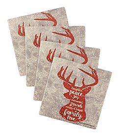 Thirstystone Red Deer Head Coaster Set