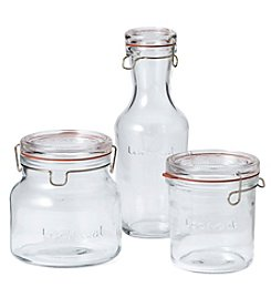 Luigi Bormioli Lock-Eat 3-Piece Glass Storage Set