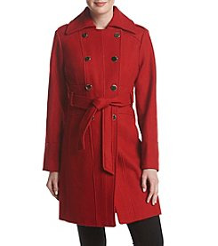 GUESS Belted Military Style Walker Coat