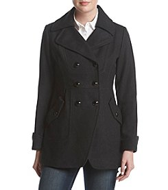 Guess Wool Walker With Flap Pockets Coat