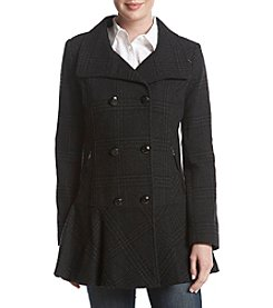 GUESS Double Breasted Button Closure Walker Coat