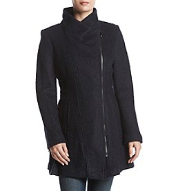 GUESS Asymmetrical Zip Wool Walker Coat
