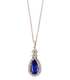 Effy 14K Rose Gold Tanzanite and Diamond Pendant