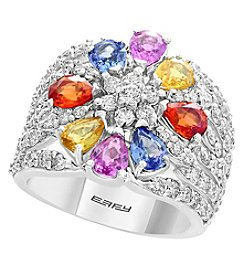 Effy 14K White Gold Diamond Gem Ring