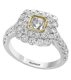 Effy 18K White and Yellow Gold Diamond Ring