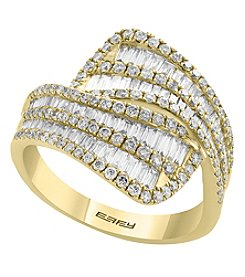 Effy 14K Yellow Gold Diamond Bypass Band