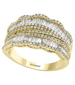 Effy 14K Yellow Gold Diamond Band