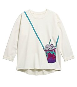 Jessica Simpson Girls' 7-16 Frankie Purse Sweatshirt