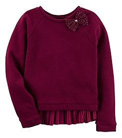 Carter's Girls' 4-8 Long Sleeve Velvet Top with Bow
