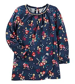 Oshkosh B'Gosh Girls' 4-8 Long Sleeve Floral Tunic