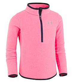 Under Armour Girls' 2T-6X Long Sleeve 1/4 Zip Heathered Fleece