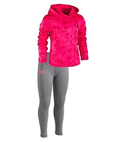 Under Armour Girls' 2T-6X Long Sleeve Painted Streaks Sweatshirt and Leggings Set