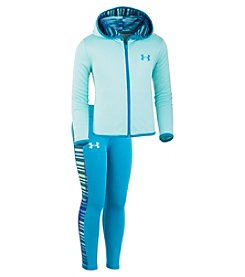 Under Armour Girls' 2T-6X Long Sleeve Zip Up Sweatshirt and Leggings Set