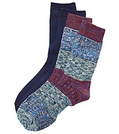 Relativity 2-Pack Textured Crew Socks