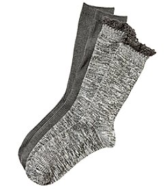 Relativity 2-Pack Crochet Top Socks