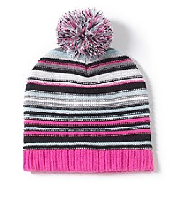 Zoe&Bella @BT Striped Pom Beanie