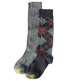 GOLD TOE 2-Pack Argyle Knee High Socks