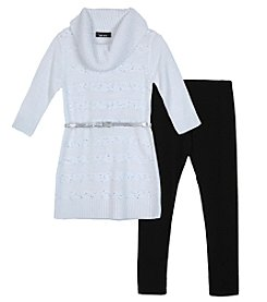 A. Byer Girls' 7-16 Long Sleeve Sweater and Leggings Set