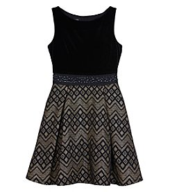 A. Byer Girls' 7-16 Velvet Bodice Dress