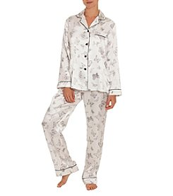 Linea Donatella Butterfly Dot Satin Pajama Set