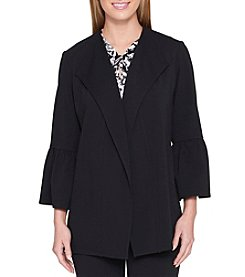 Tommy Hilfiger Fold Over Point Collar Bell Sleeve Jacket